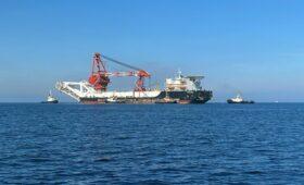 «Фортуна» прибыла к месту строительства «Северного потока-2»