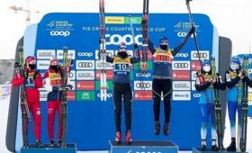 Российские лыжники взяли золото и серебро на этапе Кубка Мира