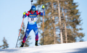 Российские биатлонисты завоевали бронзу в эстафете на чемпионате мира в Словении