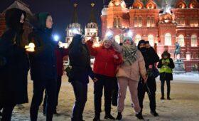 Кремль объяснил невмешательство полиции на акции с фонариками