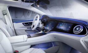 «Зелёный» флагман Mercedes-Benz: немцы рассекретили интерьер EQS