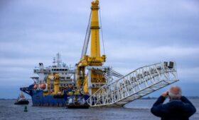 «Академик Черский» прибыл на место строительства «Северного потока-2»