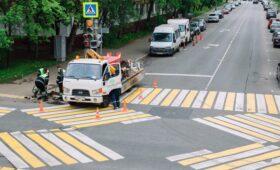 Диагональные пешеходные переходы в Москве отметят пунктиром