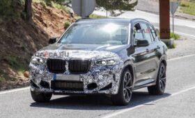 BMW обновит кроссовер X3 M: модель раскрывается на шпионских фото