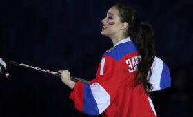 Загитова забросила шайбу в благотворительном хоккейном матче